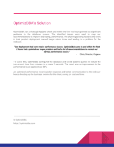 OptimizDBA case study - Cogeco-3
